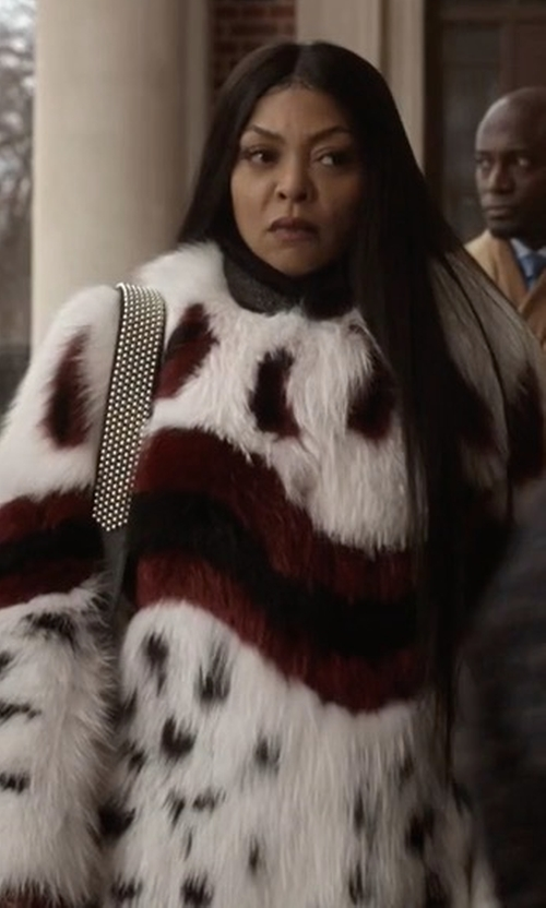 Taraji P. Henson with Fendi Leopard Fur Coat in Empire