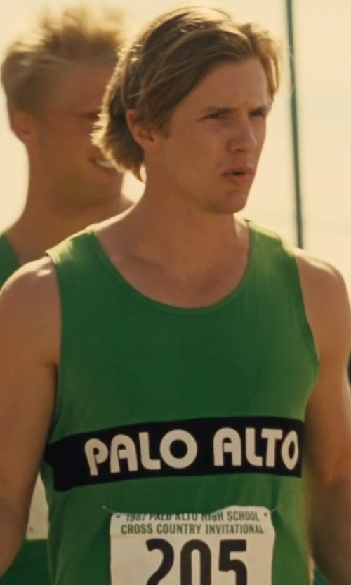 Tyler Sellers with Sophie De Rakoff (Costume Designer) Custom Made Palo Alto Running Tank Top in McFarland, USA