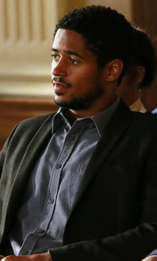 Alfred Enoch with Theory Wellar New Tailor Blazer in How To Get Away With Murder