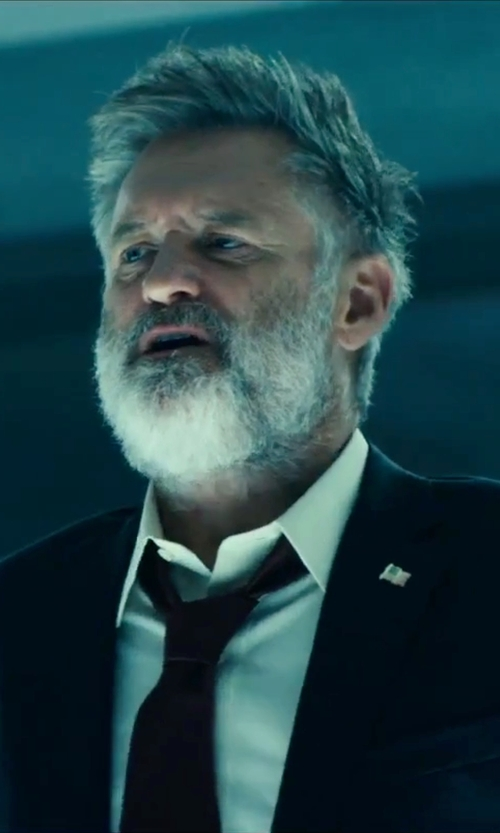 Bill Pullman with Boss Hugo Boss Point Collar Cotton Dress in Independence Day: Resurgence