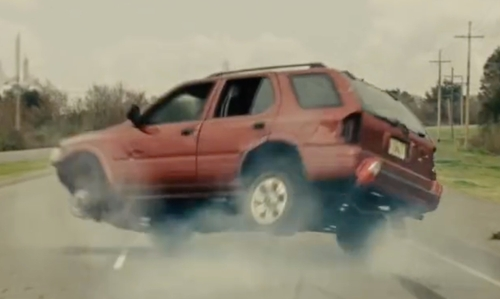 Michael Shannon with Chevrolet Tahoe SUV in Midnight Special