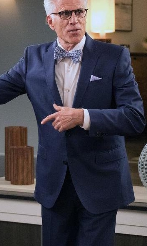 Ted Danson with Boss Hugo Boss Huge Genius Slim-Fit Basic Suit in The Good Place