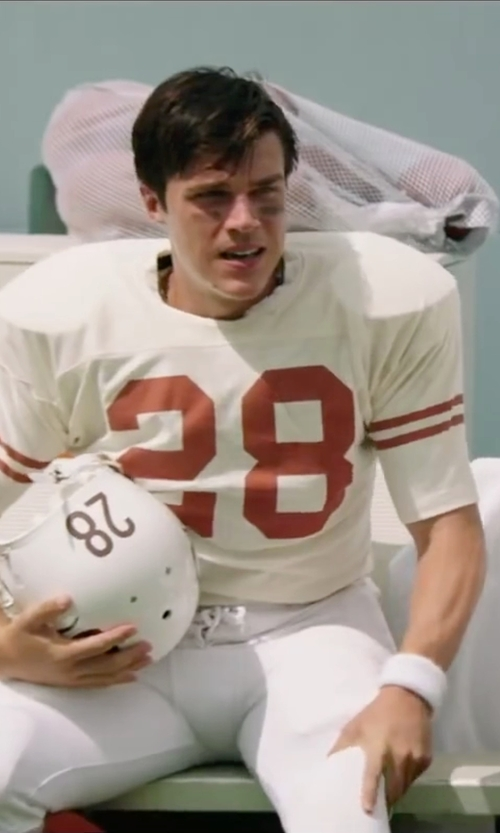 Finn Wittrock with Logo Sportwear Youth Touchdown Steelmesh Football Jersey in My All American