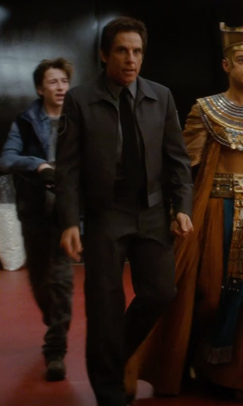 Ben Stiller with Theory Jake Suit Trousers Pants in Night at the Museum: Secret of the Tomb