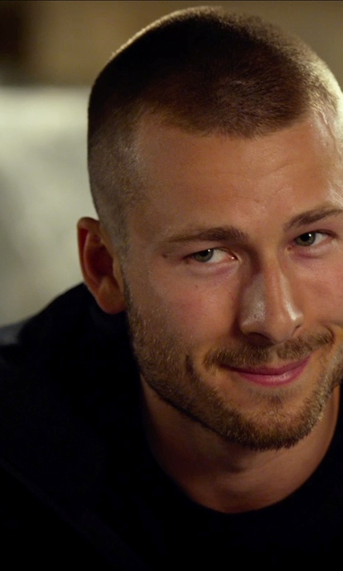 Glen Powell with The North Face Apex Bionic Soft Shell Jacket in The Expendables 3