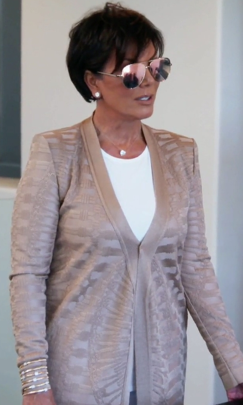 Kris Jenner with Michael Kors Collection Cashmere Button-Front Cardigan in Keeping Up With The Kardashians