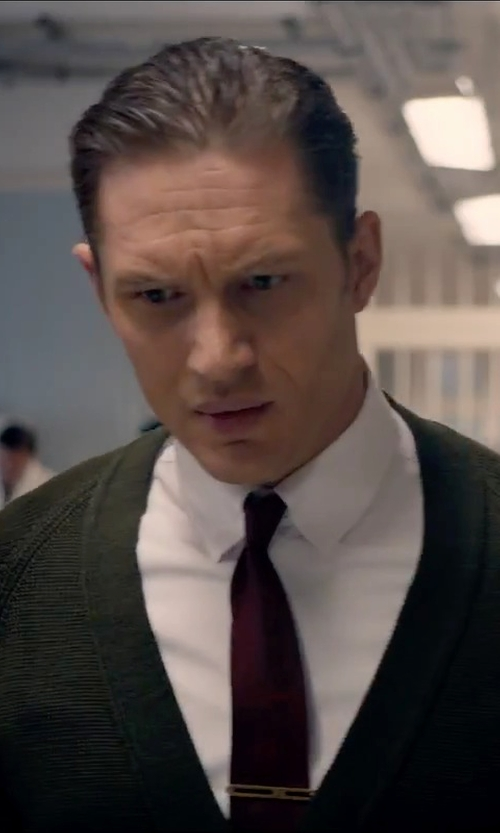 Tom Hardy with Malo Lightweight Sweater Cardigan in Legend