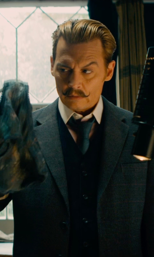 Johnny Depp with Charvet Solid Poplin Dress Shirt in Mortdecai