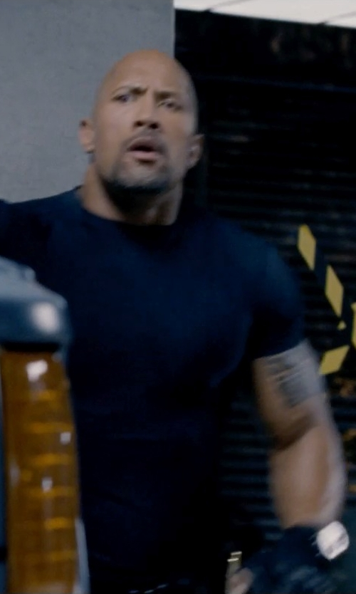 Dwayne Johnson with Oris Pro Diver Automatic Titanium Mens Watch in Fast & Furious 6