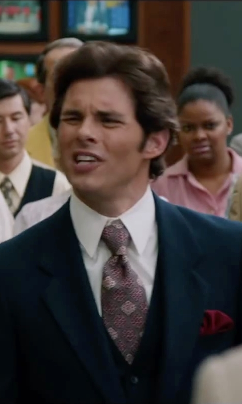James Marsden with John W. Nordstrom Pocket Square in Anchorman 2: The Legend Continues