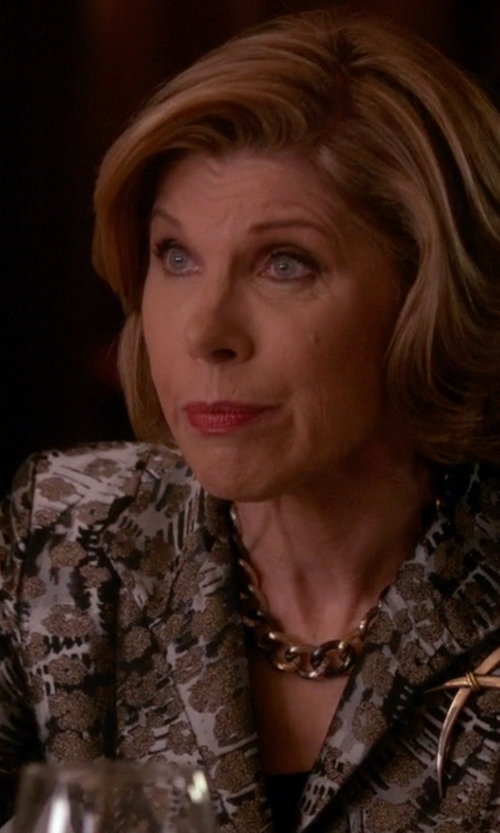 Christine Baranski with Dries Van Noten Single Breasted Blazer in The Good Wife