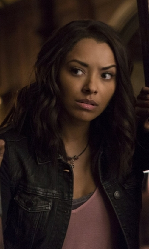 Kat Graham with Alexa Chung For AG Jeans Hitt Denim Jacket in The Vampire Diaries