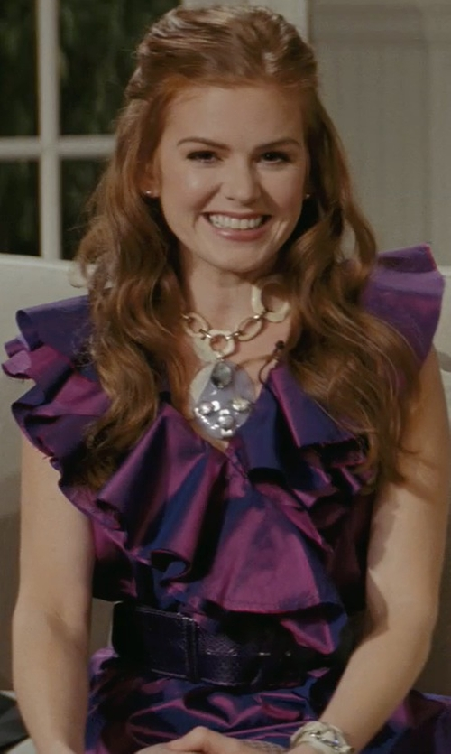 Isla Fisher with BeltIsCool Ladies High Waist Patent Leather Wide Fashion Square Belt in Confessions of a Shopaholic