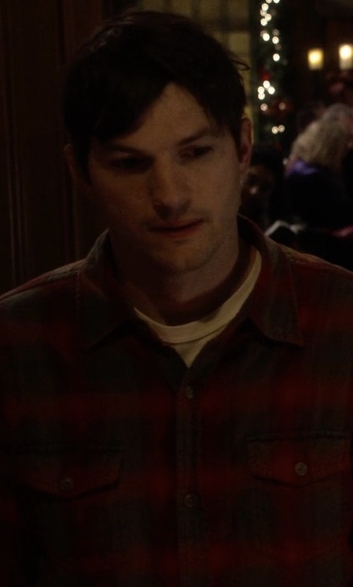 Ashton Kutcher with Volcom Shandy Flannel Shirt in The Ranch