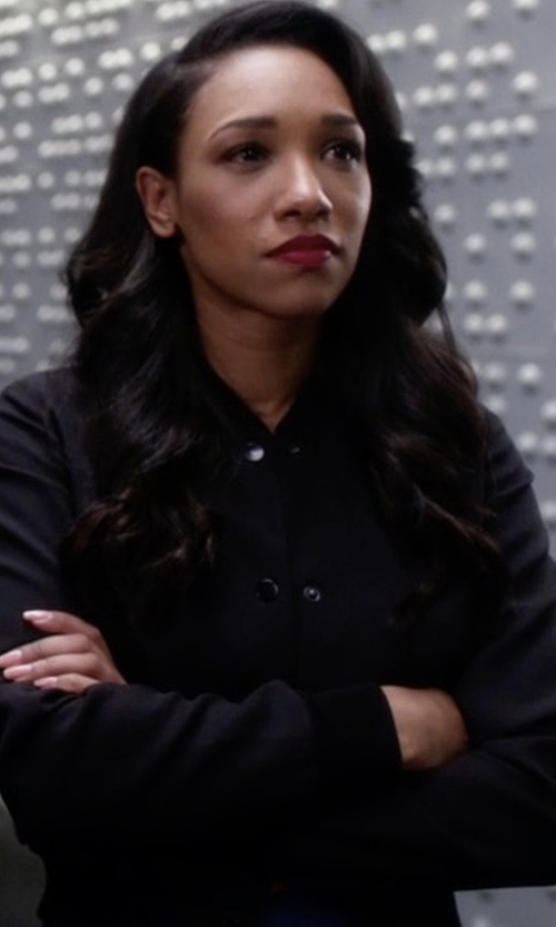 Candice Patton with Wilfred Poussin Bomber Jacket in The Flash