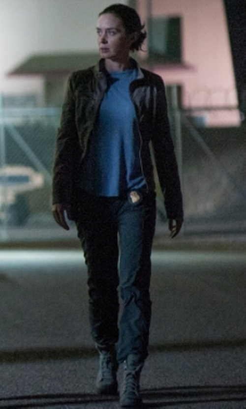Emily Blunt with Palladium Original Baggy Boots in Sicario