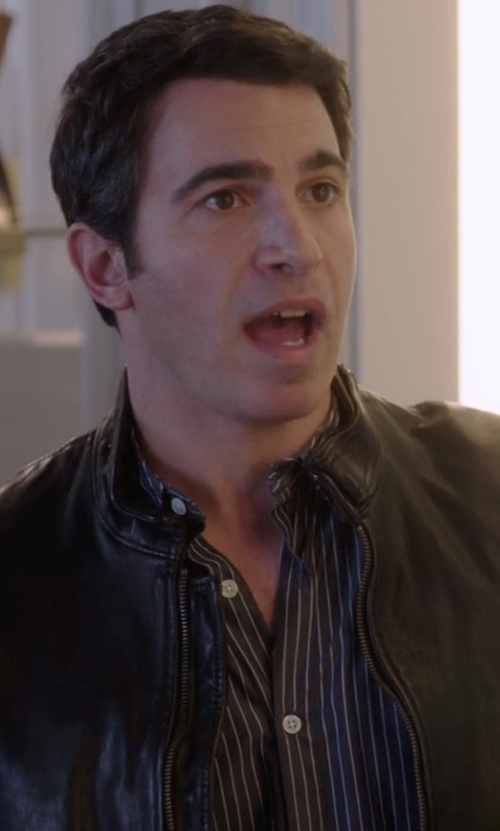 Chris Messina with Alara Stripe Slim Fit Dress Shirt in The Mindy Project