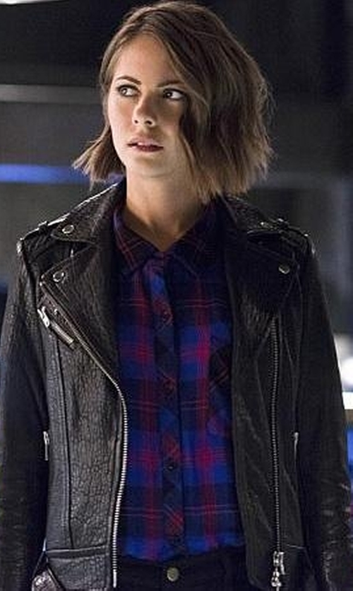 Willa Holland with Aritzia Mackage Rumer Jacket in The Flash