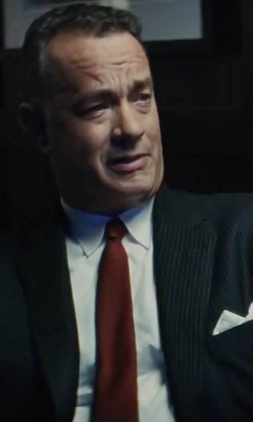 Tom Hanks with Canali Solid Dress Shirt in Bridge of Spies