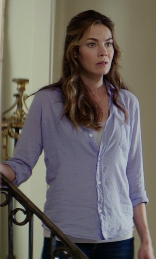 Michelle Monaghan with Jones New York Long Sleeve No-Iron Shirt in The Best of Me