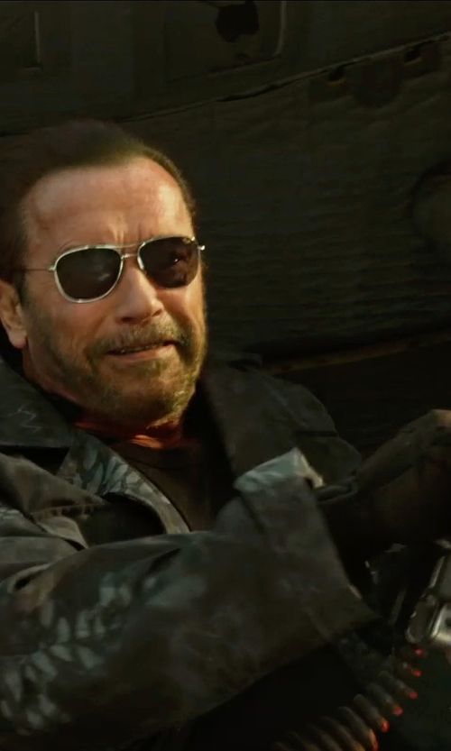 Arnold Schwarzenegger with Rag & Bone Division 3-in-1 Field Jacket in The Expendables 3