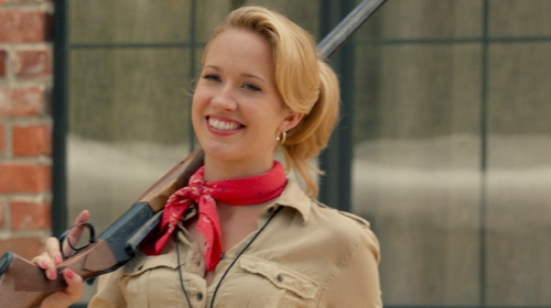 Anna Camp with American Eagle Paisley Bandana in Pitch Perfect 2