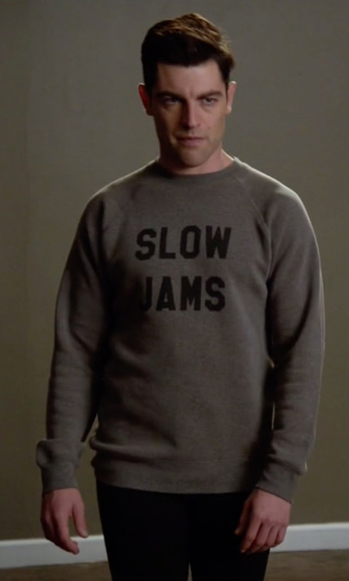 Max Greenfield with Sub_Urban Riot Slow Jams Graphic Sweatshirt in New Girl