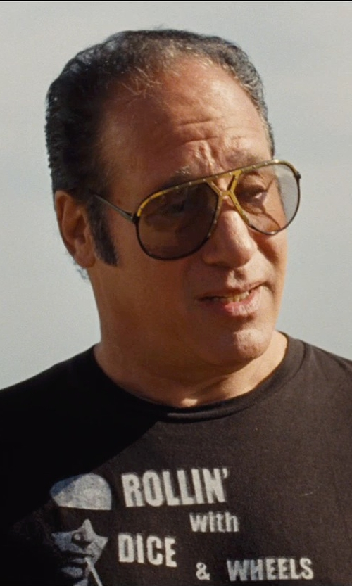 Andrew Dice Clay with Gucci Logo Temple Aviator Sunglasses in Entourage