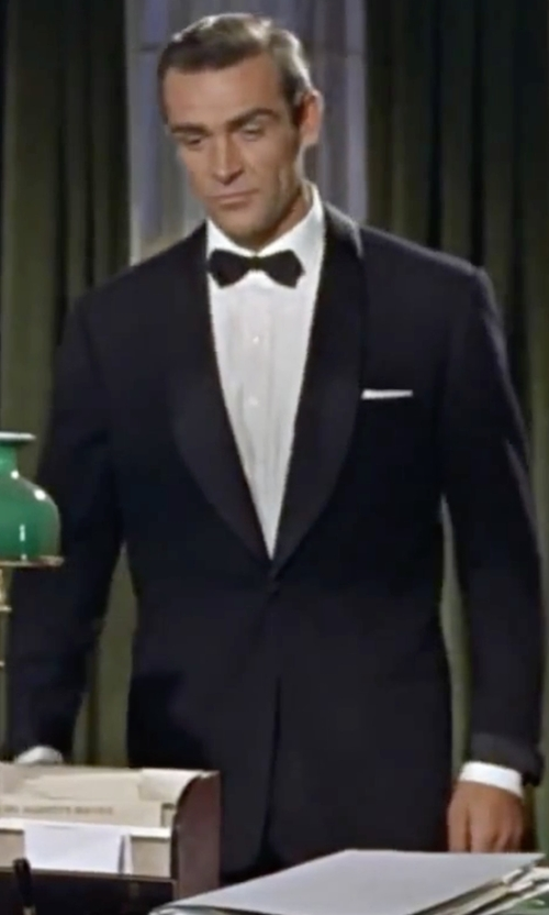 Sean Connery with Boss Hugo Boss Sky Gala Tuxedo Suit in Dr. No