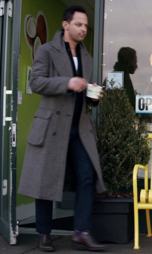 Nick Kroll with Michael Kors Slim Fit Chino Pants in Adult Beginners