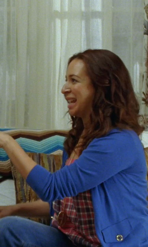 Maya Rudolph with Yumi' Button Closing Cardigan in Bridesmaids