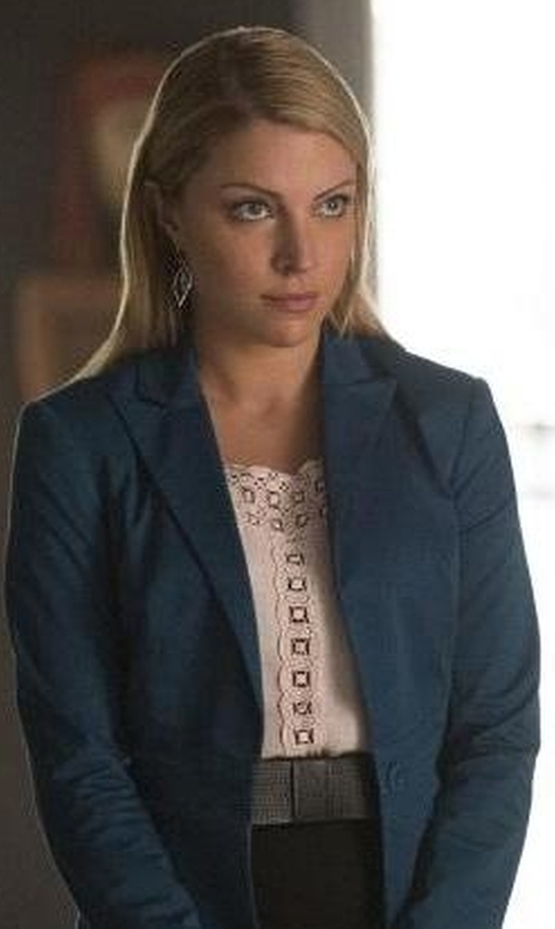 Teressa Liane with Tory Burch Robinson Woven Waist Belt in The Vampire Diaries