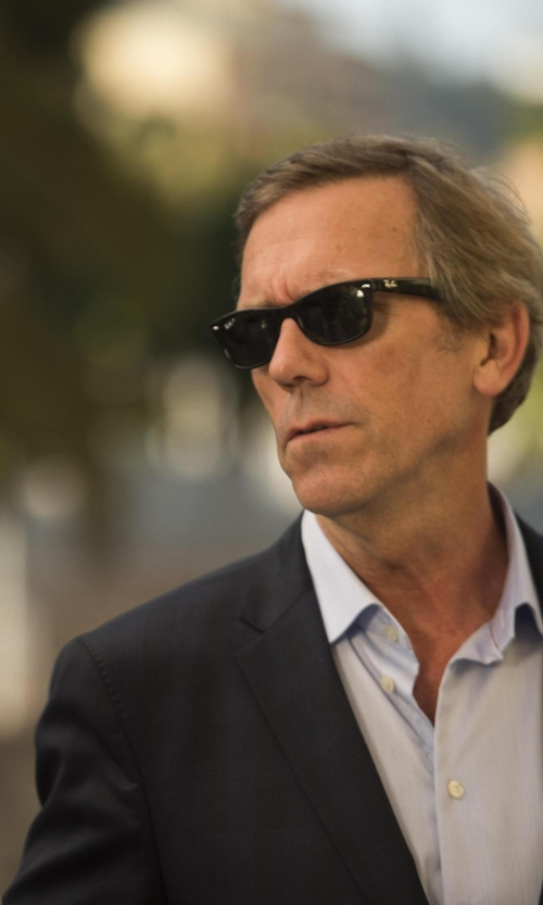 Hugh Laurie with Ray-Ban Wayfarer Classic Sunglasses in The Night Manager
