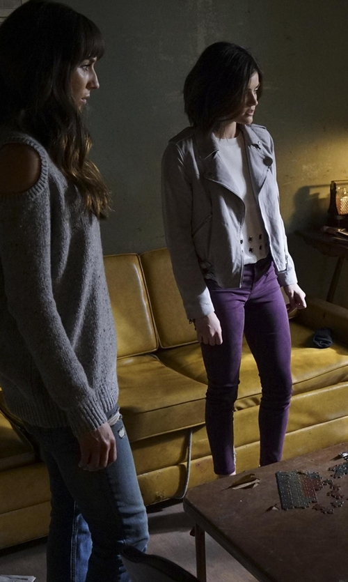 Troian Bellisario with Joe's Jeans The Icon Ankle Skinny Jeans in Pretty Little Liars