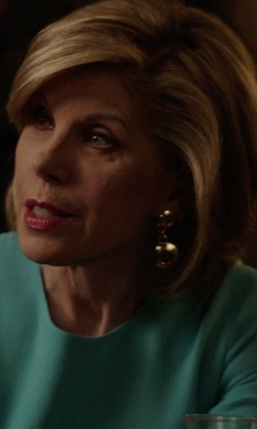 Christine Baranski with Michael Kors Collection Spring Floral Sheath Dress in The Good Fight