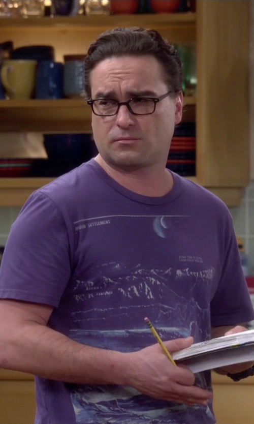 Johnny Galecki with Heavy Rotation Moon Settlement Tee in The Big Bang Theory