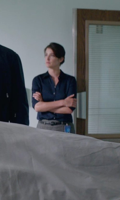 Cobie Smulders with MARC JACOBS classic blouse in Captain America: The Winter Soldier