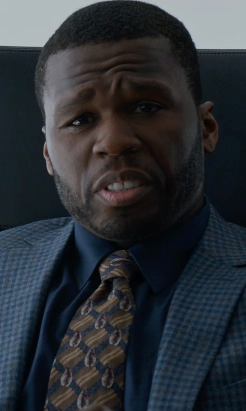 50 Cent with Armani Collezioni Solid Stretch Sportshirt in Southpaw