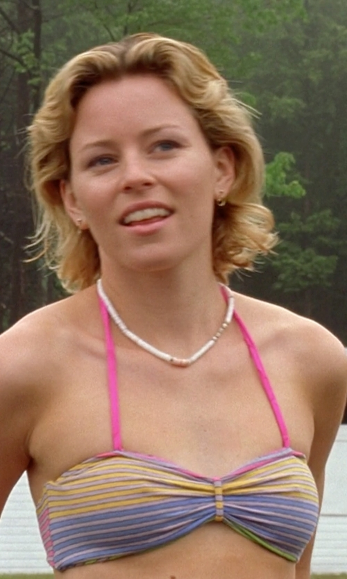 Elizabeth Banks with Paolita Stripe Bikini in Wet Hot American Summer