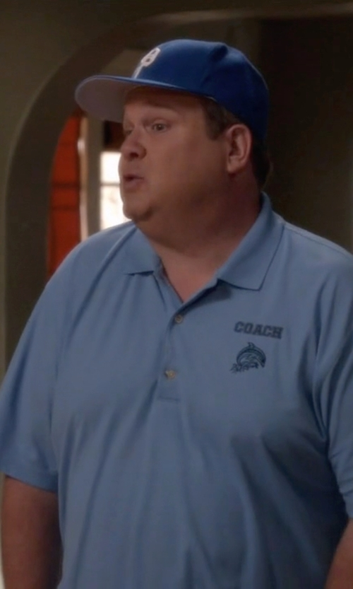 Eric Stonestreet with Polo Ralph Lauren Gothic P Baseball Cap in Modern Family