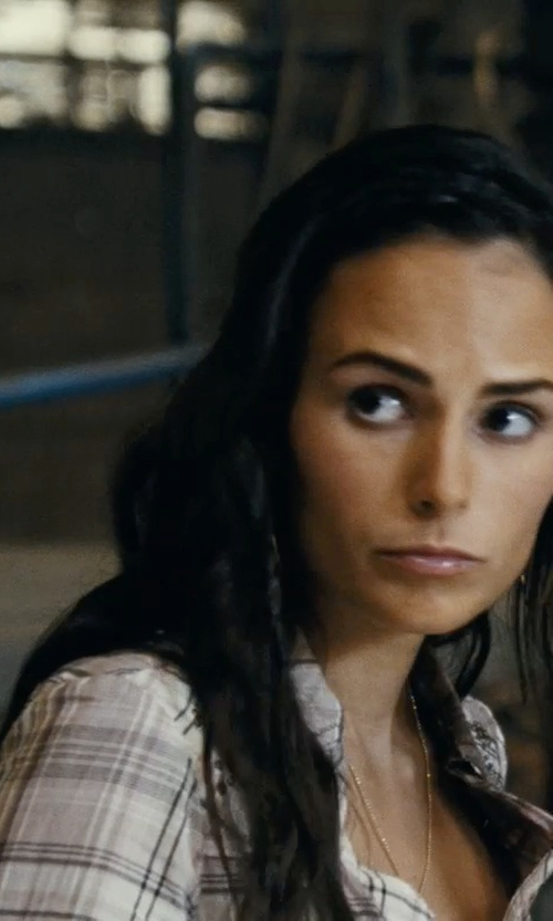 Jordana Brewster with Rails Hunter Plaid Shirt in Fast Five