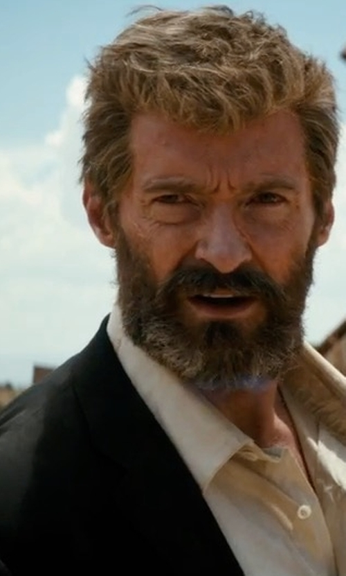 Hugh Jackman with J. Lindeberg Hopper Wool Blazer in Logan