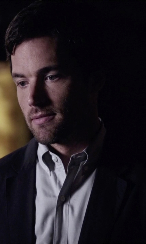Ian Harding with Topman  Ultra Skinny Black Suit Jacket  in Pretty Little Liars