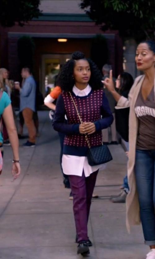 Yara Shahidi with Rebecca Minkoff Mini Love Crossbody Bag in Black-ish