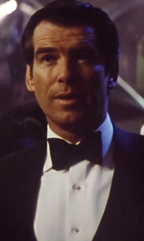 Pierce Brosnan with Brioni Oxford French-Cuff Dress Shirt in Tomorrow Never Dies