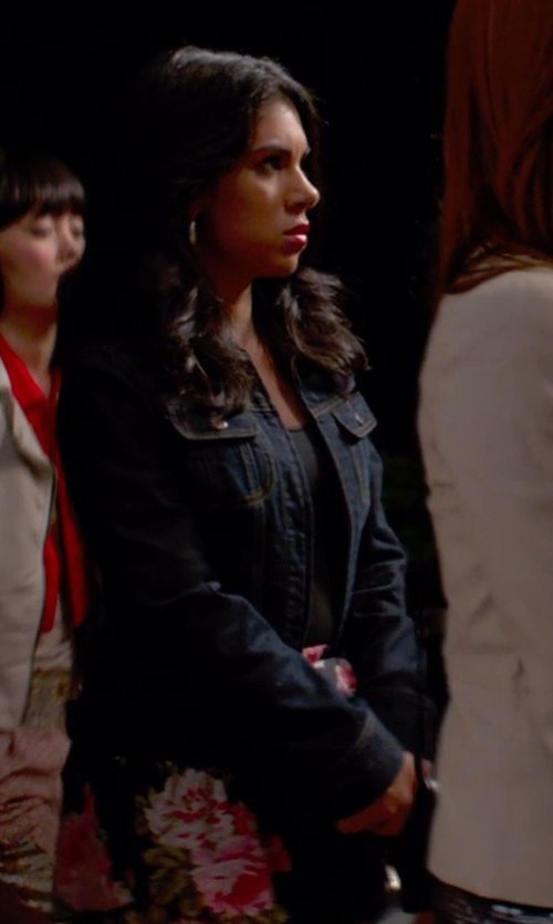 Chrissie Fit with Frame Denim Le Military Stretch-Denim Jacket in Pitch Perfect 2