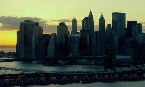 Unknown Actor with Manhattan Bridge New York City, New York in John Wick