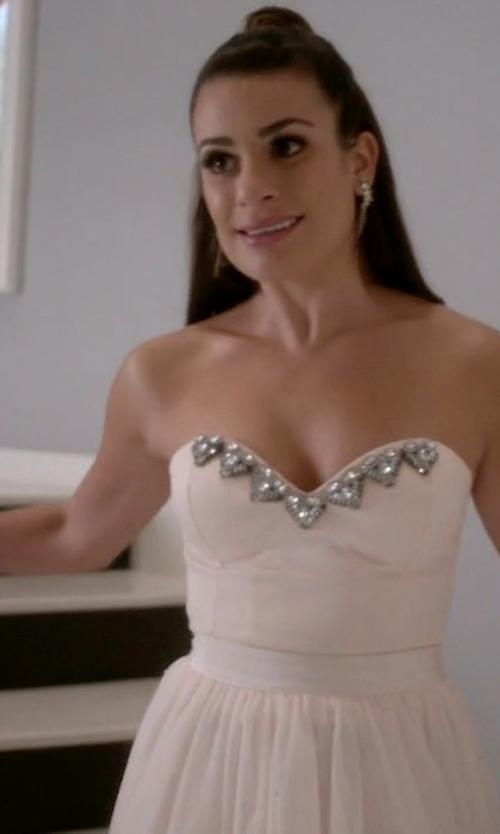 Lea Michele with S Max Mara Susanna Fur Cuffs in Scream Queens