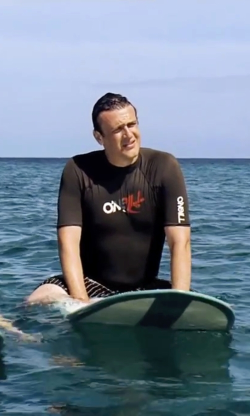 Jason Segel with O'Neill Wetsuits Basic Skins Short Sleeve Rashguard in Forgetting Sarah Marshall