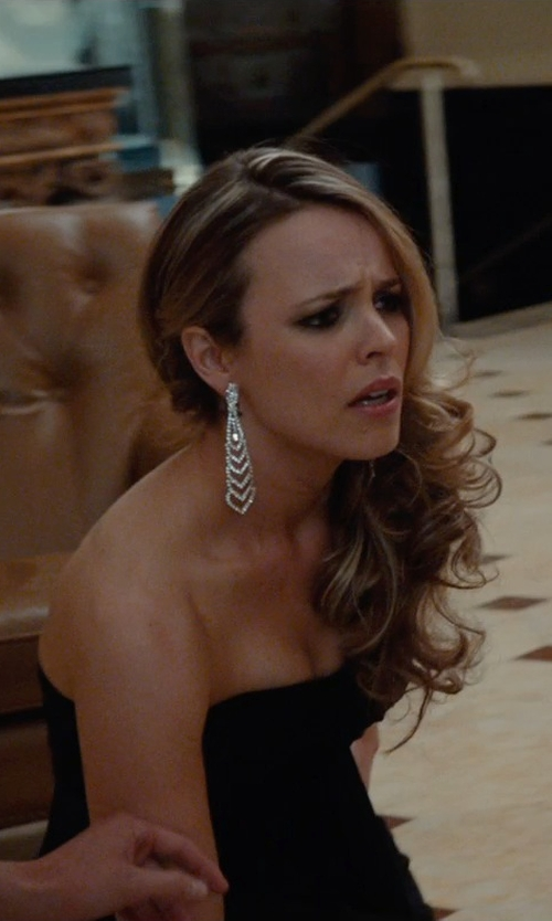 Rachel McAdams with Eddie Borgo Plume Pavé Crystal Drop Earrings in Southpaw